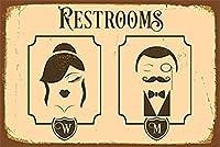 バークラブカフェファームの家の装飾アートポスターのヴィンテージ金属錫サイントイレ信号