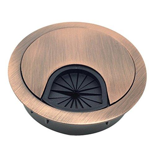 Milopon Kabeldurchführungen Kabeldurchlass Zinklegierung Kabeldurchlässe für Büro Tabelle Schreibtisch Ø 50 mm