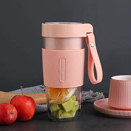 BUBU Portable Blender, Personal Blender Smoothie Shake Maker Fruit Juice Cup for Home, Office, Sport, Outdoors Pink