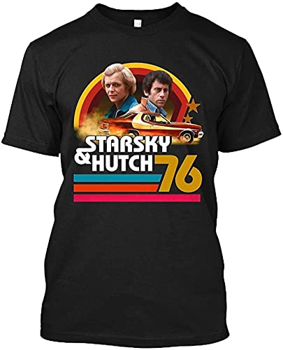 guandong Starsky And Hutch Geek Giftideas Collectable FriendshipTv Fandom Gift Graphic Tee Unisex T-Shirt Hoodie Men Black L