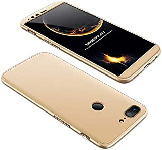 OnePlus 5T Case, fashion ultra Slim Gkk 360 Full Protection Cover Case - Gold