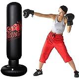 サンドバッグ パンチバッグ ストレス解消 気分転換 キック ボクシング テコンドー 運動不足 エクササイズ 自宅用 子供 大人に適用 160cm 空気ポンプ付