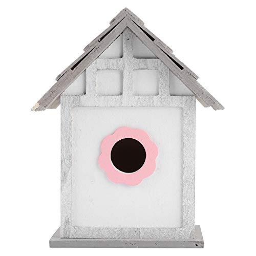 Haokaini Maison D'oiseau en Bois Bricolage Élevage Perroquets Nichoir Boîte Décoration de Jardin en Plein Air pour Oiseaux Avale des Perroquets Habitats