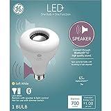 LED+ Speaker Light Bulb, Bluetooth Light Bulbs with Speaker, BR30, 65-Watt Replacement, Soft White, Bluetooth Speaker Light Bulb, 1-pack