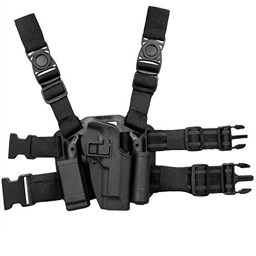 Gexgune Beretta 92 Holster mit Fallbein, CQC Serpa Oberschenkelpistolenhalfter Rechtes Bein und Taschenlampentasche für Beretta 92 96 M9 M92