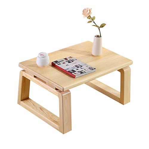 Tables Basse en Bois Baie Vitrée Tatami Basse Salon D'échecs Lit D'ordinateur Basse Balcon Basses (Color : Wood Color, Size : 60 * 45 * 30cm)