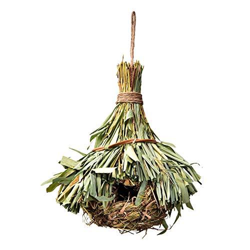 Vogelnest Handgeweven Rietpapegaai Hangende Huizen Huisdier Vogelhuisje Bed Habitat Hangende Vogelhuisje voor Papegaaien Canarische Parakeet, A
