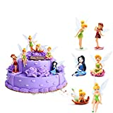 HYSTYLE 6 Pcs Fairies Miniature PVC Figure Collection Playset Doll Toy, Fairy Cake Topper, Fairy Plant Pot Craft Dollhouse Decoration, Cake Decoration, Landscape Scenes