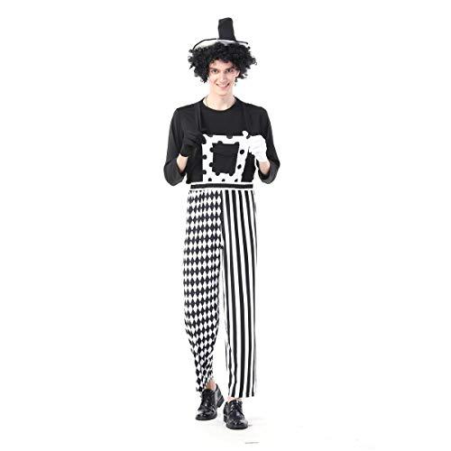 GAOJUAN Nuevo Disfraz De Halloween Disfraz De Payaso De Circo A Rayas para Adulto,Style2,L