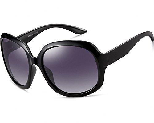 ATTCL ATTCL Damen Polarisiert Sonnenbrille 100% UV400 Schutz 3113-schwarz
