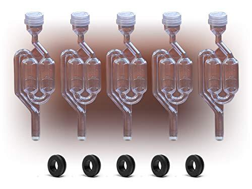 5 x Airlock S-Bubble tipo con arandelas gratis