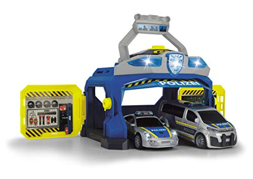 Dickie Toys 203715010 Command Unit, Polizeistation, Spielstation, Set Polizei, Polizeiauto Spielzeug mit vielen Funktionen, Mehrfarbig