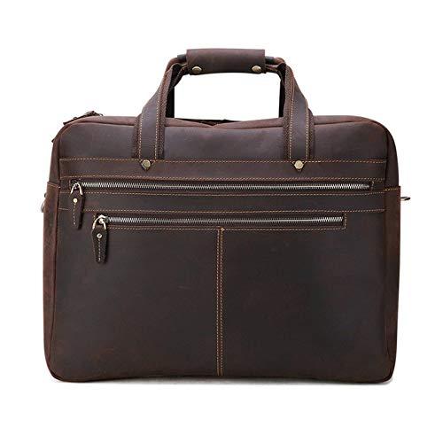 N\C Business Bag Men's Handbag Leather Shoulder Diagonal Briefcase Business Men's Bag Single Shoulder Messenger Bag