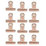 12pcs C Curve Pinzas Para Pellizcar Uñas Clips Para Extensión de Uñas Accesorios Multifuncionales Para Arte de Uñas de Acero Inoxidable Para Extensión Y Fijación de Uñas(Rose Gold)