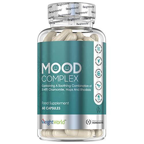Mood Complex - Mit Griffonia Extrakt, Rhodiola, Magnesium, Zink & B Vitaminen - Gute Stimmung - Natürliche & Geprüfte Zutaten - Vegan & Vegetarisch - 60 Kapseln - Von WeightWorld