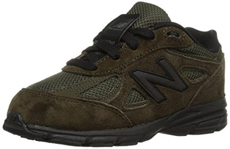 New Balance Boys' 990v4 Running Shoe Olive/Black 10.5 M US Little Kid [並行輸入品]