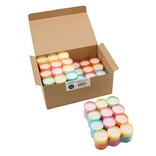 Stonebriar Tea Light Candles 6 to 7 Hr Extended Burn Time, 96 Pack, Multicolor, 96 Count