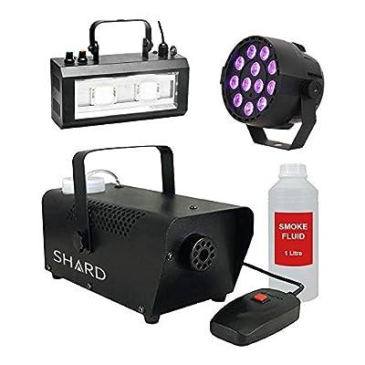 Halloween Party Package 2-400W Smoke Machine inc fluid, UV, and Strobe Light