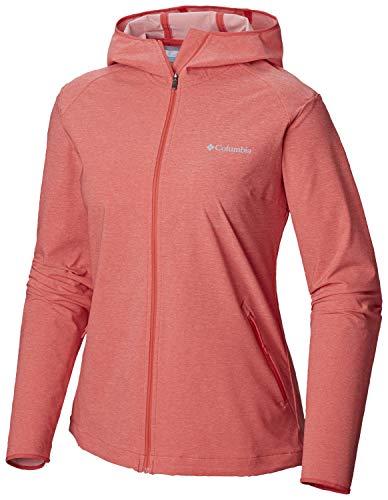 adidas Heather Canyon Softshell Jacket Chaqueta Mujer, Coral Rojo Heath, L