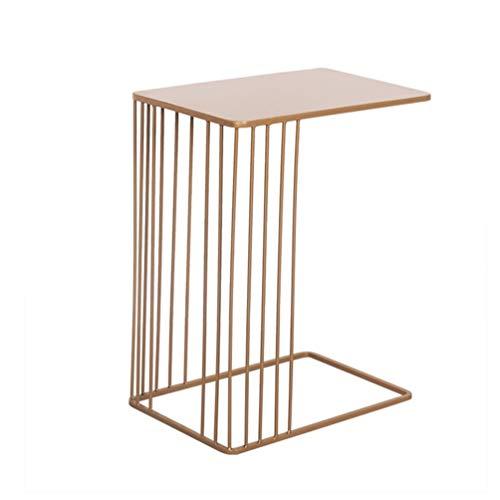 SZQ-Table Basse Bureau d'ordinateur d'économie de l'espace, table de chevet de table de loisirs de balcon de table d'art de côté de sofa d'art de fer créatif, 45 * 30 * 59CM Table de sofa