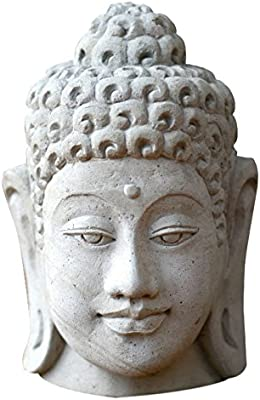 NOVICA Handcrafted Sandstone Religious Sculpture, Grey, Lord Buddha''