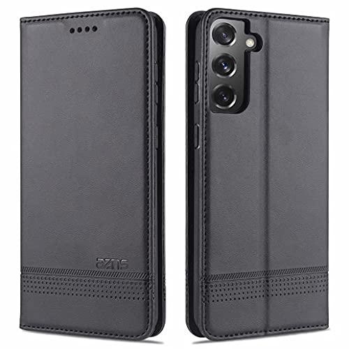 CRABOT Reemplazo para Samsung Galaxy S21 Plus Funda de Cuero PU Plegable Cartera Cierre Magnético Ranura para Tarjeta,Soporte Plegable Protectora Cover(Negro)