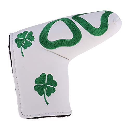 F Fityle Wasserdicht Golf Putter Cover Putterhaube für Blade-Stil Putter - Weiß B
