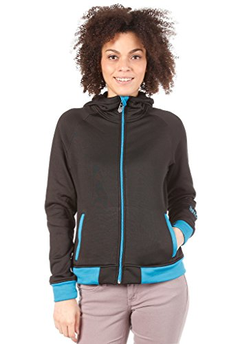 LIGHT Damen Fleece Jacke Hide, black, L, LSDLFL0213,