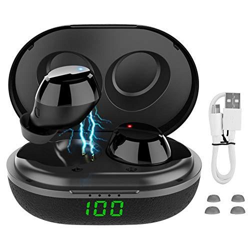 Ymiko Q12 TWS Wireless Bluetooth 5.0 Auricular LED Pantalla de alimentación Digital Auriculares...