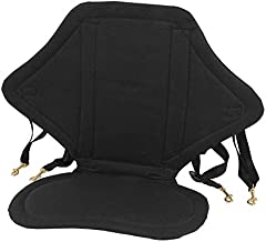 Kayak Seat, Adjustable Padded Canoe Seat Boating Seat Sit On Top Seat High Back Drifting Cushion with Strap for Kayaks Rowboats Fishing Boats