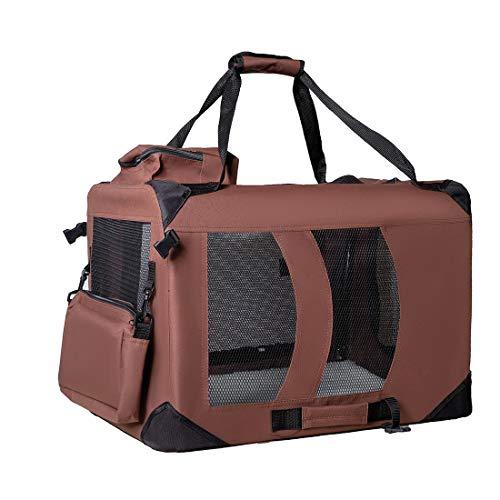 Zedelmaier Faltbare Hundebox Transportbox Hundekäfig mit verschiedenen Größen und Farben (M - 60 x42 x42 cm, Kaffebraun)
