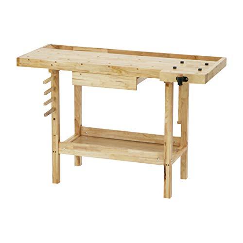 W126 木工作業台 木工用作業台 木製作業台 工作作業台 木製工作作業台 作業台 木製 バイス 工作用 木工用 デスク 机