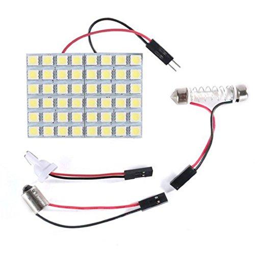 DJYJD Blanco del xenón 48-SMD 5050 Panel de luz LED para el Coche/Dome/Pie Zona del Tronco Luz/Cargo