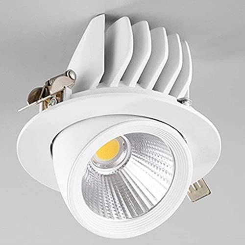 Aplique de pared, 7W LED Foco de acento empotrado Corte de techo 70-80MM Iluminación COB Spot Downlights Lámpara de arandela de pared 30 & deg;Ángulo de haz Rotación de dirección ajustable AC110 ~