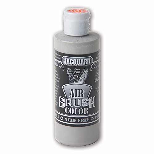 Jacquard Sneaker Series Airbrush Color by, Artist-Grade Fluid Acrylic Paint, Use on Multiple Surfaces, 4 Fluid Ounces, Concrete Grey