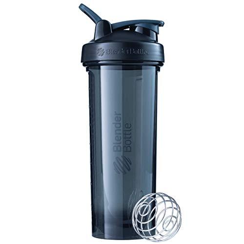 BlenderBottle Pro32 Tritan Trinkflasche mit BlenderBall, optimal geeignet als Eiweiß Shaker, Protein Shaker, Wasserflasche, BPA frei, skaliert bis 700 ml, Fassungsvermögen 940 ml, schwarz