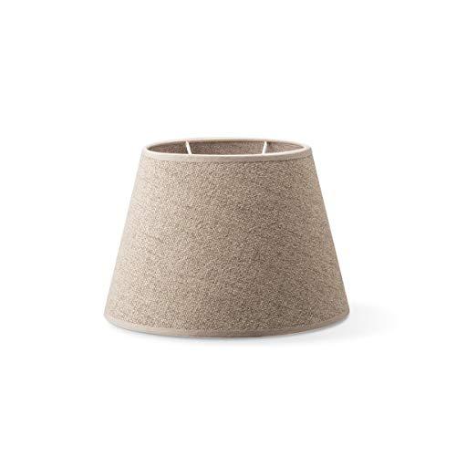 Abat-jour ovale   Melrose   Abat-jour en textile   Abat-jour conique   Culot E27   Diamètre 24 cm Hauteur 16 cm   Beige   Convient pour tous les intérieurs IP20   Sans ampoule