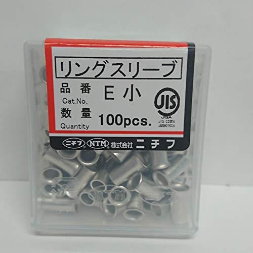 ニチフ 銅線用裸圧着スリーブ E形 リングスリーブ 100個入 E-小