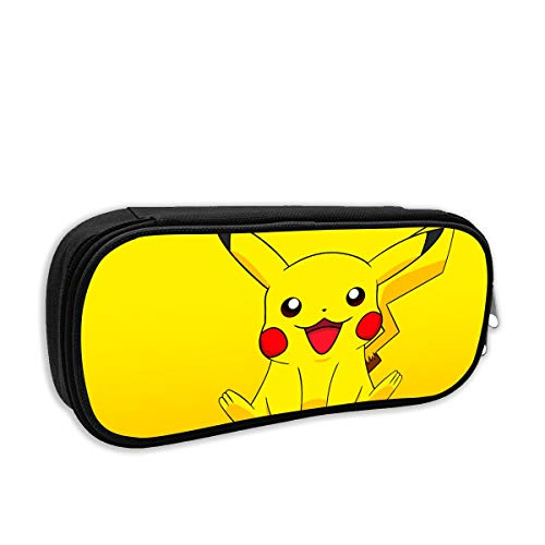 CHLING Pencil Pouch Smile Pikachu Big Capacity Pencil Pen Case for Office and School Supplies