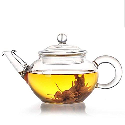 Tetera Lifeyz 250ml para una taza de té, pequeña tetera de cristal claro, tapa colador de alambre de acero inoxidable, tetera para té resistente al calor