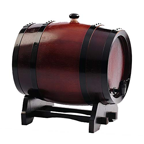 Ann-Portaghiaccio Botte di Rovere in Legno di Vino Botte di Vino Dispenser in Legno Rovere Vintage per Il Whisky invecchiamento Barile Bourbon Tequila Brewing Port (Color : B, Size : 10L)