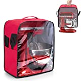 kitchen aid food processors cover - Luxja Clear Front Panel Dust Cover Compatible with 6-8 Quart KitchenAid Mixers, Dust Cover with Top Handle for Stand Mixer and Extra Attachments (Fit for All 6-8 Quart Stand Mixer), Red