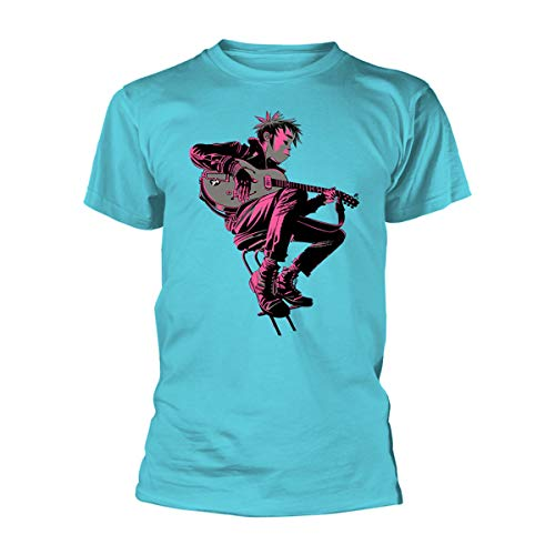 Gorillaz The Now Now Damon Albarn Oficial Camiseta para Hombre