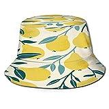 fudin Sombrero de Pescador Unisex Fondo Vintage con Rosas Mariposas Bicicleta Vieja Plegable De Sol/UV Gorra Protección para Playa Viaje Senderismo Camping