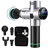 Massage Gun, Deep Tissue Percussion Muscle Massager, Athletes Massage Device, Quiet Rapid Release Percussion Therapy, 20 Speed LCD Touch Control Pro Portable Handheld 24 Volt Long-Lasting Battery