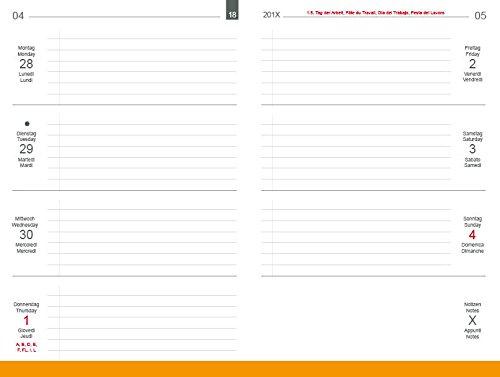 A5 Wochenkalender Classic 2021, inkl. Leporello/Faltplaner für das revolutionäre X17-Kalenderbuch mit auswechselbaren Heften