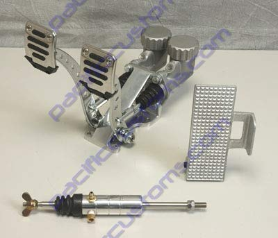 Pedal Assembly With Throttle Pedal Round Reservoirs 3/4 Brake 5/8 Clutch And Slave Dune Bug Buggy Sandrail Atv Baja Bug Trike