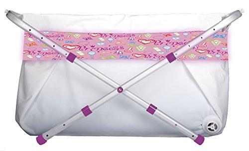 Bibabad - Bañera plegable para bebés - Bañera antideslizante, portátil - Adecuado para niños de 1 a 8 años - Bañera independiente - Rosa 60-80cm