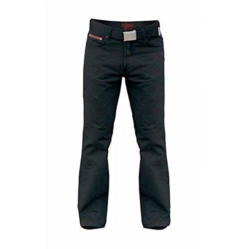 Herren Übergröße Schwarz Bedford Cord Jeans (106,7 cm-152,4 cm) mit Gürtel - Herren, Schwarz, W56, L30