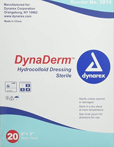Dynarex Hydrocolloid Dressing,Thin 2 x 2 Inch